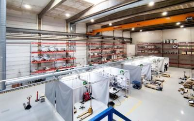 The relocation of the welding area will increase the efficiency of material flows in Vaasa